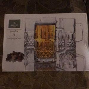 New in box Gibson jewelite 4 glass mugs
